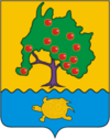 Coat of arms of privolzhsky rayon astrakhan oblast