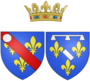 Coat of arms of Françoise d'Orléans, Mademoiselle de Longueville as Princess of Condé.png