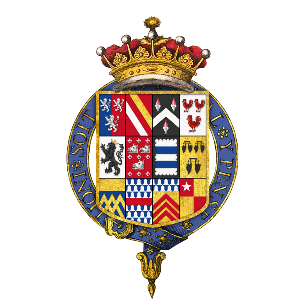 Coat of arms of Thomas Herbert, 8th Earl of Pembroke, 5th Earl of Montgomery, KG, PC, PRS