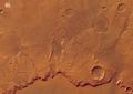 Colour view of Huygens crater rim ESA206006.tiff