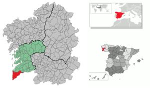 O Baixo Miño - Image: Comarca Baixo Miño