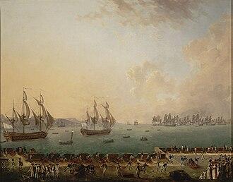Battle of Martinique (1779) - Combat de la Martinique, 1779, by Auguste-Louis de Rossel de Cercy