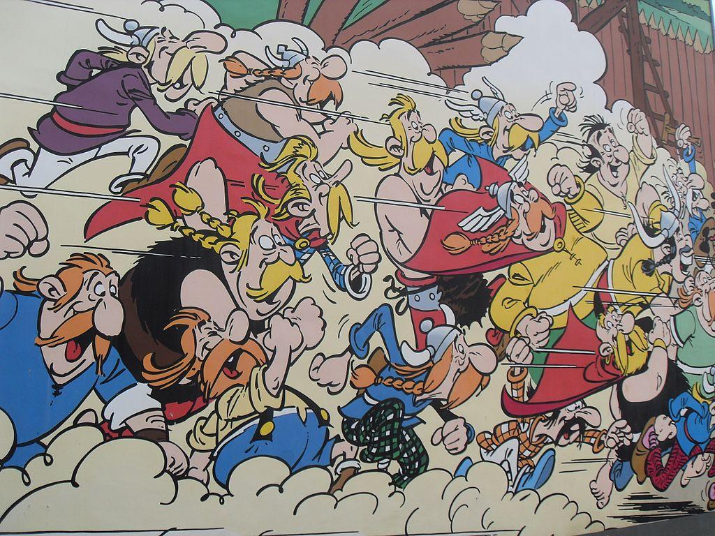File Comic Wall Asterix Amp Obelix Goscinny Et Uderzo