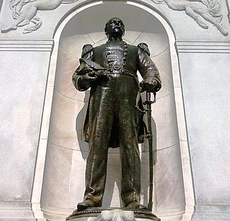 George H. Perkins - Monument to Perkins by sculptor Daniel Chester French and architect Henry Bacon as erected at the New Hampshire State House in Concord in 1902.