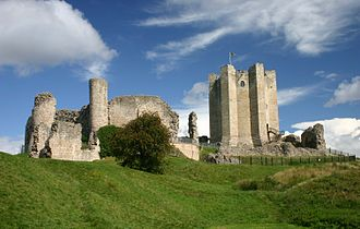 Conisbrough Castle - The castle seen from the south-east