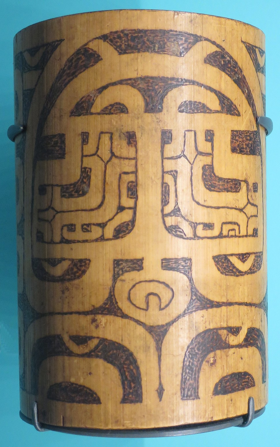 Container for tattoo tools, Pua Mau Valley, Marquesas Islands, Bishop Museum, B.05280