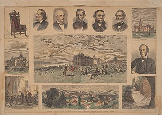 History of Cornell University - A pictorial spread about Cornell in Harper's Weekly in 1873