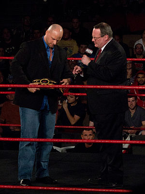 Adam Pearce - Pearce (left) and Jim Cornette formed an alliance in 2006, with Cornette appointing Pearce the Lieutenant Commissioner of Ring of Honor.