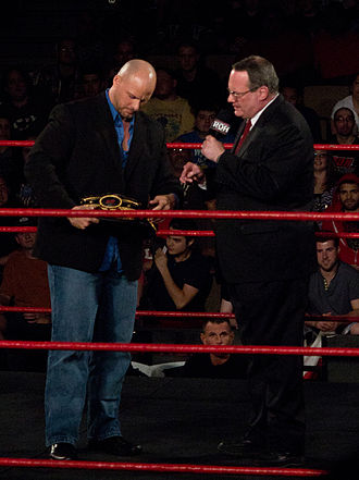 Jim Cornette - Cornette (right) with Adam Pearce