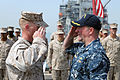 Corporal's Leadership Course graduation aboard the USS Fort McHenry 150314-M-AR522-159.jpg