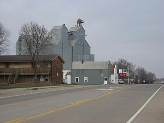 Corson, South Dakota - South Dakota Highway 11 running northbound through Corson