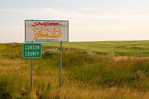 Corson County, South Dakota - Entering Corson County along Highway 63