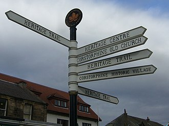 Corstorphine - Signpost in Corstorphine