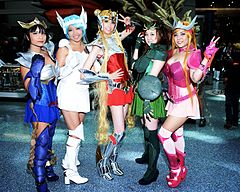 Saint Seiya Style Inner Senshi From Sailor Moon Cosplayers At Anime Expo 2016
