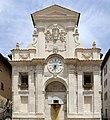 Costantino fiaschetti, fonte di piazza di spoleto, 1746-48, con stemmi e targa in onore a urbano VIII su dis. di stefano maderno (1626, da altro edificio) 01.jpg