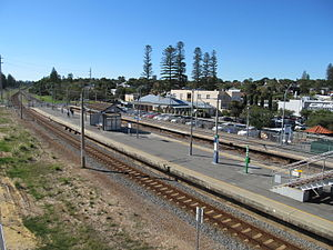 Cottesloe railway station - Northbound view in May 2012