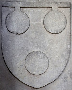 Thomas de Courtenay, 5th/13th Earl of Devon - Image: Courtenay Arms Colyton Church Devon