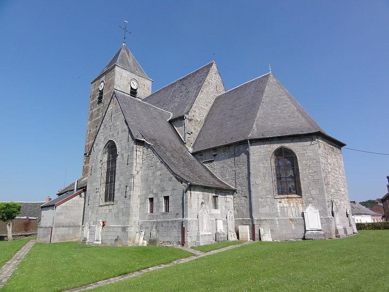 Cousolre (Nord, Fr) église, extérieur