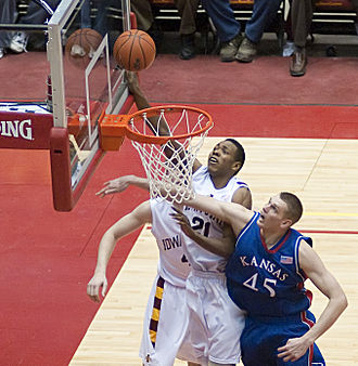 Craig Brackins - Brackins scoring for Iowa State