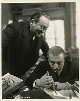Edward Arnold en Peter Lorre in Crime and Punishment