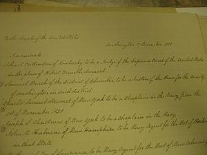John J. Crittenden - Crittenden's Supreme Court nomination