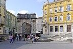 Croatia Pula Arch of the Sergii 2014-10-11 12-29-06.jpg