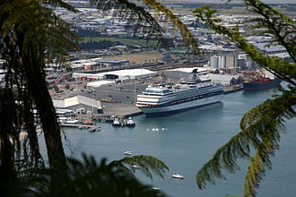 Port of Tauranga - A cruise ship docked in the port.