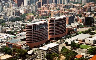 La Castellana, Caracas - San Ignacio Center aerial view, located in La Castellana