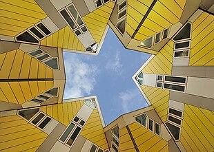 Particolare delle case cubiche di Rotterdam