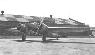 Curtiss XA-14 twin engine ground-attack aircraft prototype, first flight September 1935
