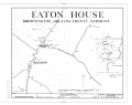 Cyrus Eaton House, Brownington Center Road, Brownington Center, Orleans County, VT HABS VT,10-BROW,2- (sheet 1 of 6).png