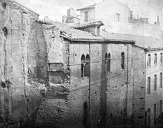 Capitoul - The Chateau Narbonnais in the 19th century.