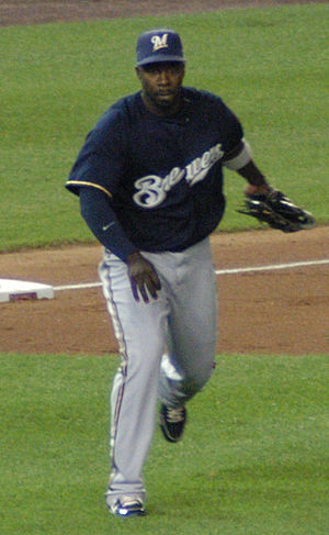 Bill Hall (utility player) - Hall playing for the Milwaukee Brewers in 2008