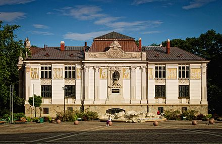 Palace of Art at Szczepanski Square, is an example of Art Nouveau architecture in central Krakow DZolopa 033 2013.jpg