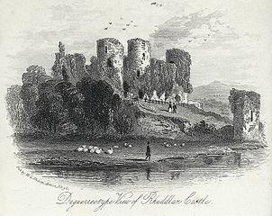 Daguerreotype view of Rhuddlan Castle
