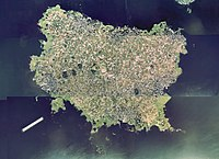 Daikon Island in Lake Nakaumi Aerial photograph.1976.jpg