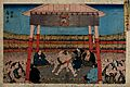 Daimyō's procession to Edo fording a river. Colour wood Wellcome V0047232.jpg