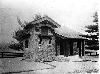Alfred Hopkins - Dairy building for Frederick W. Vanderbilt's Hyde Park Farms, 1901, Alfred Hopkins, Architect.