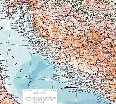 Italia Croazia Cartina.Dalmati Italiani Wikipedia