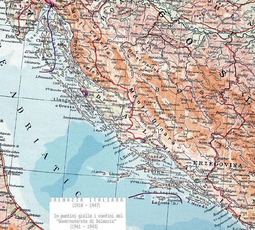 Dalmazia Italiana Cartina.File Dalmaziaitaliana Jpg Wikimedia Commons