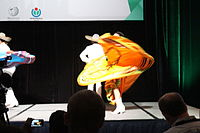 Dancing at the Wikimania 2015 Opening Ceremony IMG 7623.JPG