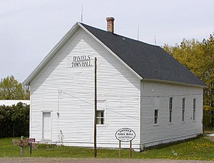 National Register of Historic Places listings in Burnett County, Wisconsin - Image: Daniels Town Hall
