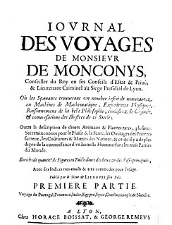 Balthasar de Monconys French diplomat