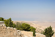 Dead Sea from Mt Nebo