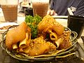 Deep fried Pig's hock with fermented red beancurd sauce.JPG