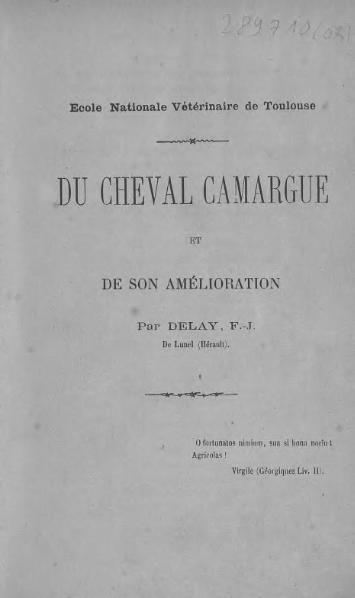 File:Delay - Du cheval Camargue et de son amélioration.djvu