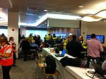 Delta Sky Club at New York LaGuardia Airport with passengers from Delta Air Lines Flight 1086 on 05 March 2015 Picture 001.jpg