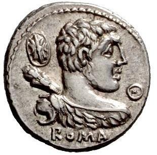 Denarius Publius Cornelius Lentulus Marcellinus 1 Obverse