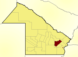 Location of General Donovan Department in Chaco Province