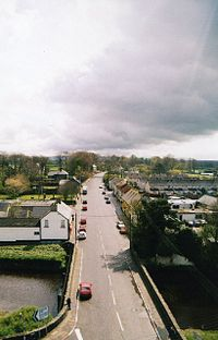 Dervock main Street as seen from a clock tower of the co-op community building - geograph.org.uk - 104482.jpg